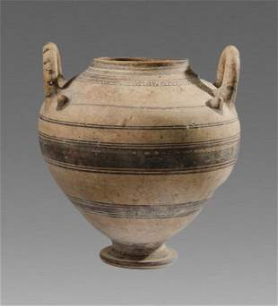 Large Daunian Ware Pottery Krater c.4th century BC.
