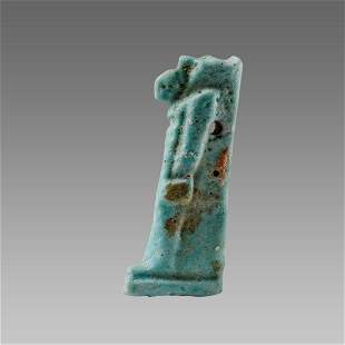 Ancient Egyptian Faience Amulet of Thoth, c. 600 B.C.E.