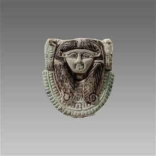 Ancient Egyptian Faience Amulet Hathor c.664-300 BC.