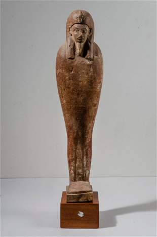 Ancient Egyptian Large Wood Figure Ptah Soker Osiris