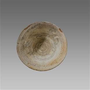 Ancient Byzantine Ceramic Bowl Sea Salvage c.8th-10th