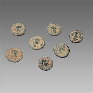 Lot of 7 Ancient Roman Bronze Coins c.3rd century AD.
