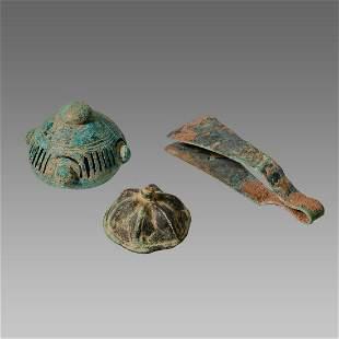 Lot of 3 Ancient Roman Bronze Ornaments c.2nd Century