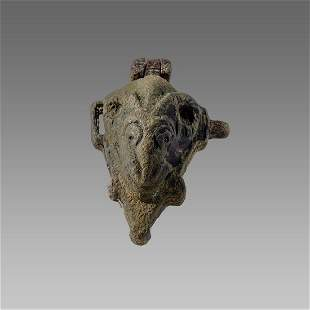 Ancient Roman Bronze Face/Goat Mold c.2nd/4th cent AD.