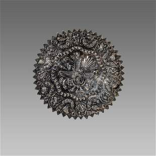 19th century Turkish Ottoman Silver Mirror