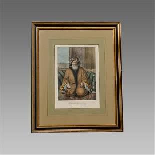 French Print Orientalist, Arab Man Alexandria Egypt.