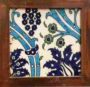 Ottoman Syrian Ceramic Tile c.17th century.