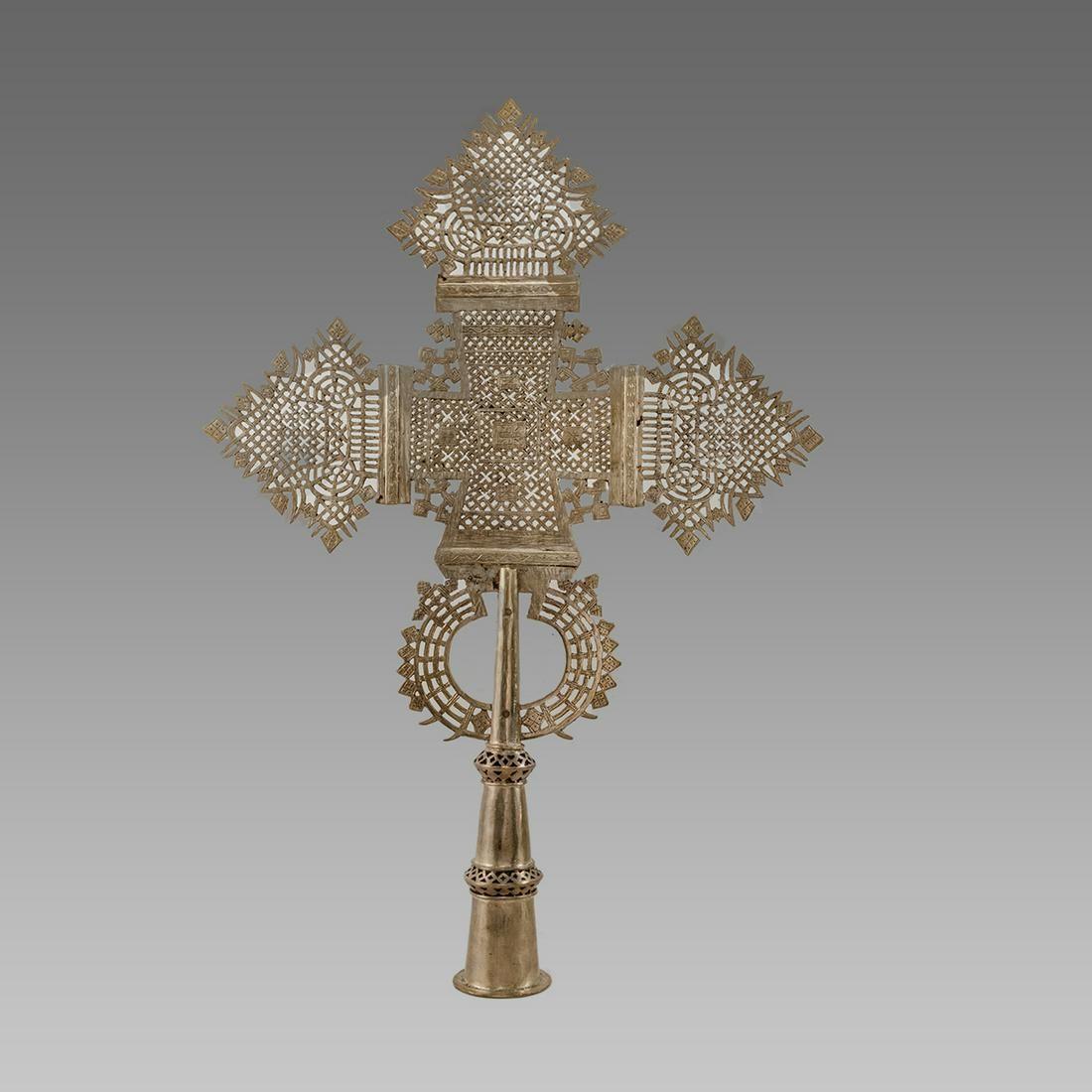 Large Coptic Processional Cross Ethiopian c.20th