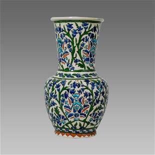 Turkish Ceramic Vase with floral design.