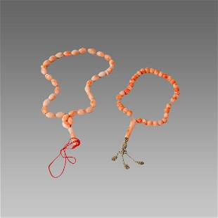 Middle Eastern Coral worry beads.(2)