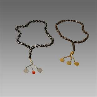 Middle Eastern stone worry beads. (2)