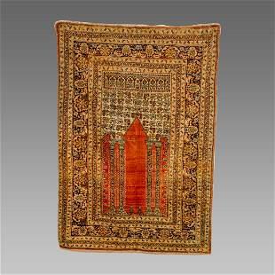 Turkish Gordes Prayer Wool Rug c.19th century.