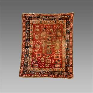 Turkish Village Wool Rug c.19th century AD.
