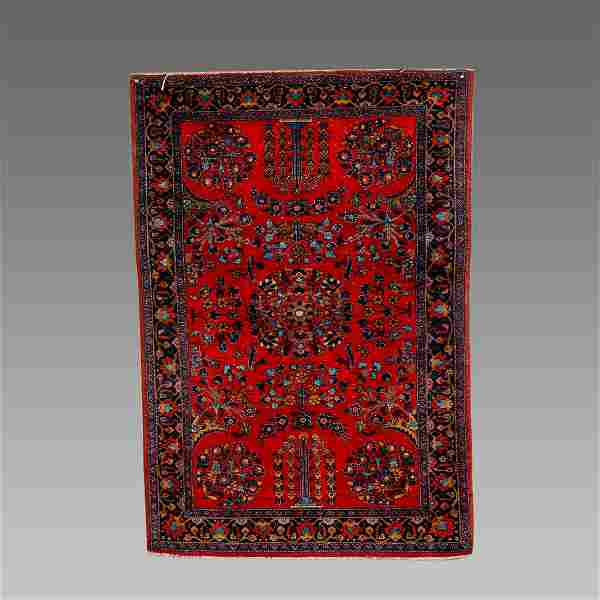 Persian Kashan Wool Rug c.1920.