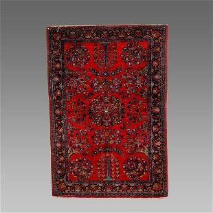 Persian Kashan Wool Rug c.1920.
