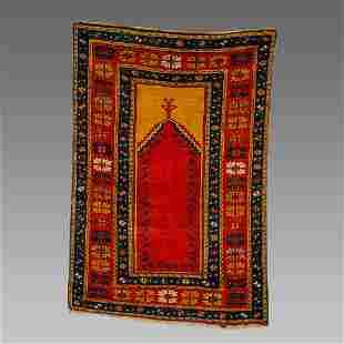 Turkish Prayer Wool Rug c.late 19th century.