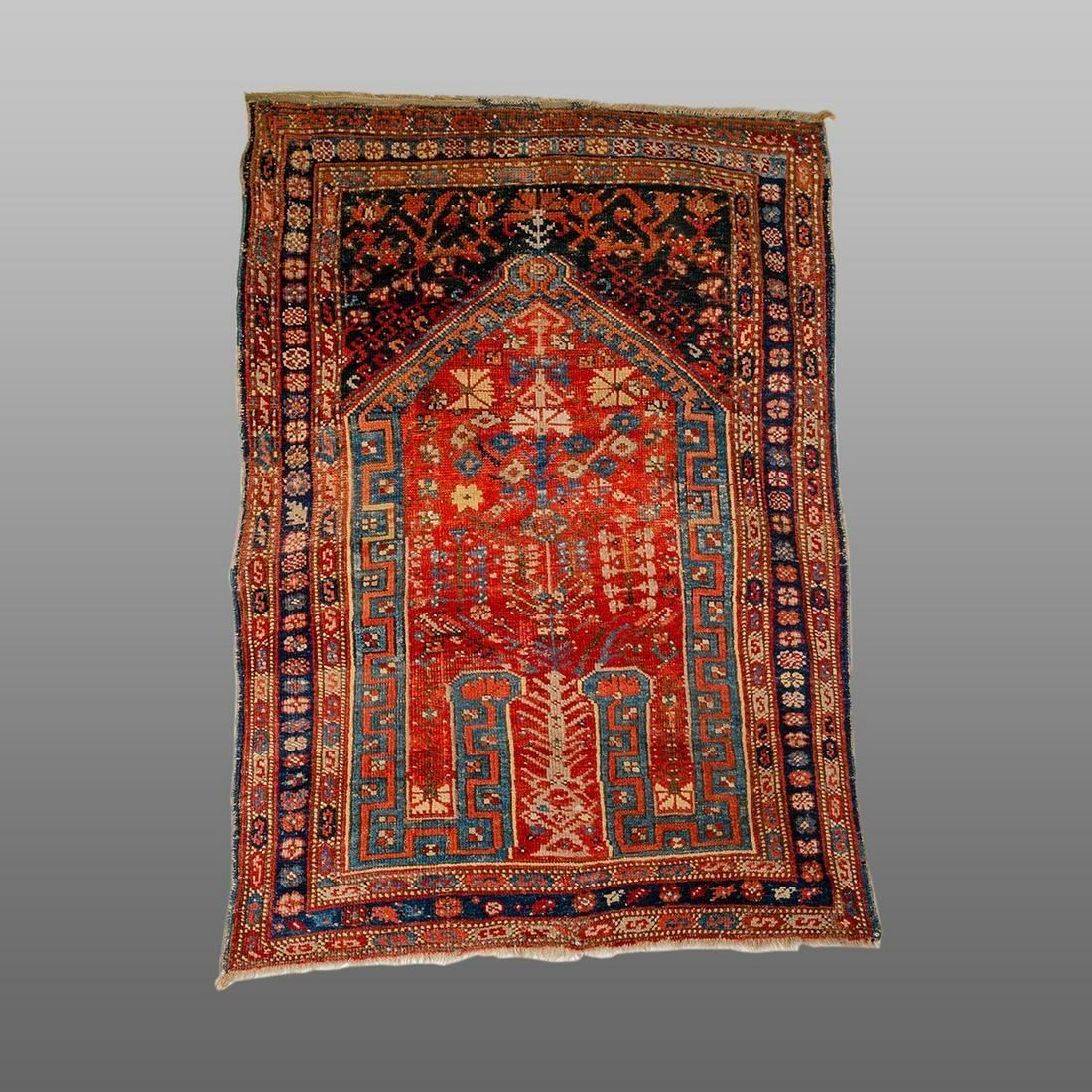 19th century Turkish Ushak wool carpet.