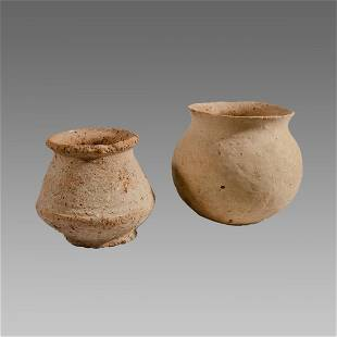 Ancient Holy Land Iron Age Terracotta Vessels c.1400