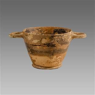 Ancient South Italian pottery Skyphos Circa 350 B.C.