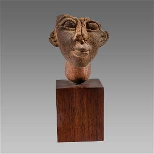 Egyptian Style Terracotta head of Akhenaten.