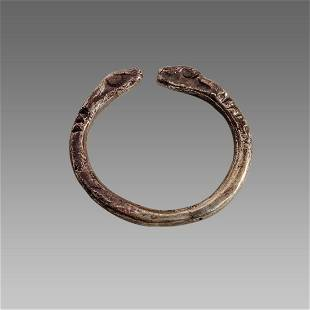 Ancient Greek Silver Ring with Ram heads c.4th cent BC.