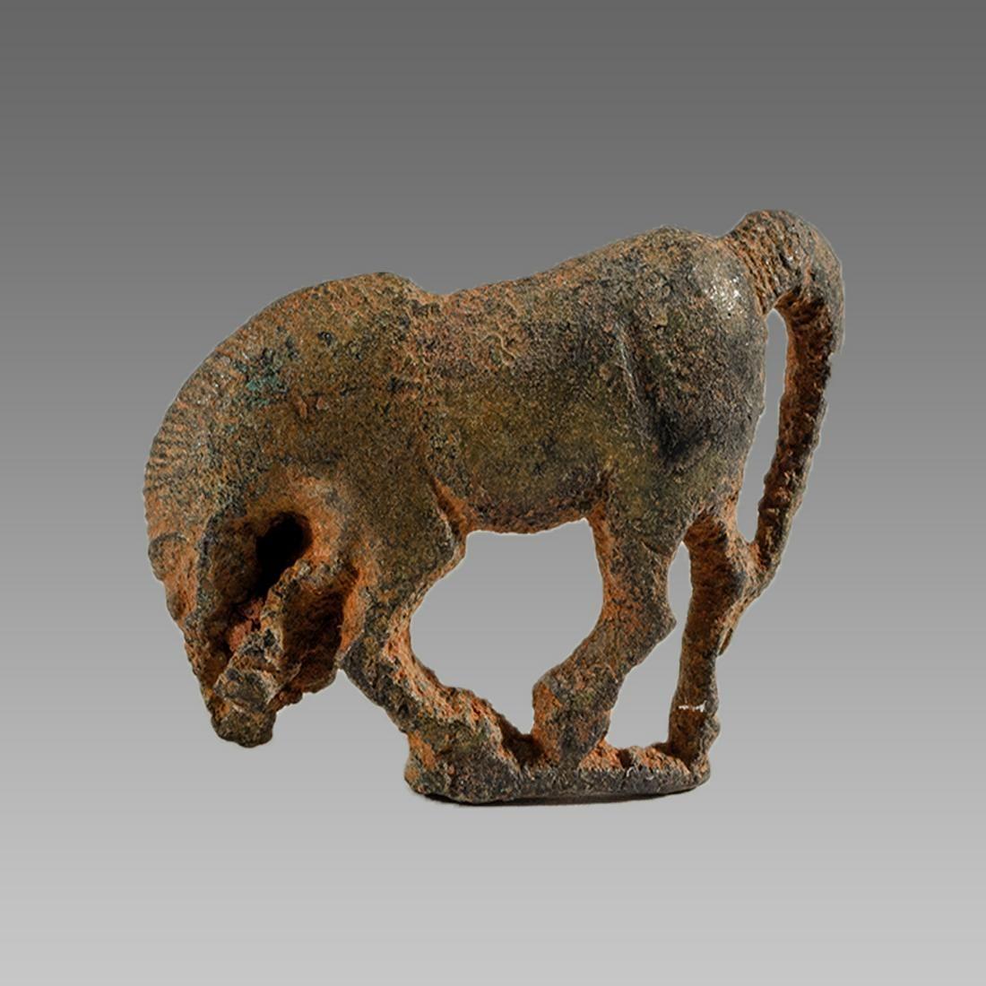 Ancient Roman Bronze Horse Fibula c.2nd-4th century AD.