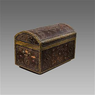 Middle Eastern Moroccan Wood Chest.