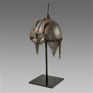 Indian Iron Helmet c.19th century.