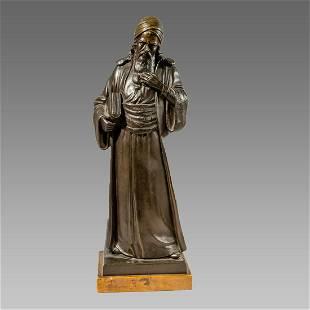 Judaica, European Bronze Figure.