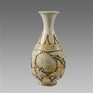 Chinese Ming Dyansty Stoneware with Slip Clear Glaze