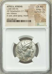 Ancient Greek ATTICA. Athens. c.440-404 BC. Tetradrachm