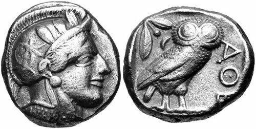 Ancient ATTICA, Athens. 454-404 BC. AR Tetradrachm