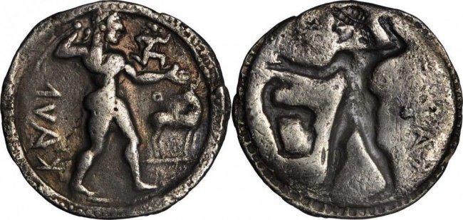 ITALY. Bruttium. Caulonia. AR Stater (7.27 gms, 29 mm)
