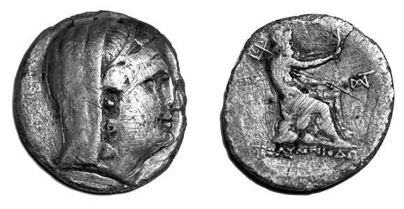 BYZANTION. Thrace. Ca. 240-220 B.C. 11.87 gm, 27 mm.