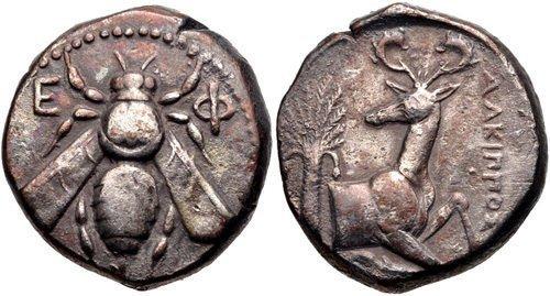 IONIA, Ephesos. Circa 390-325 BC. AR Tetradrachm