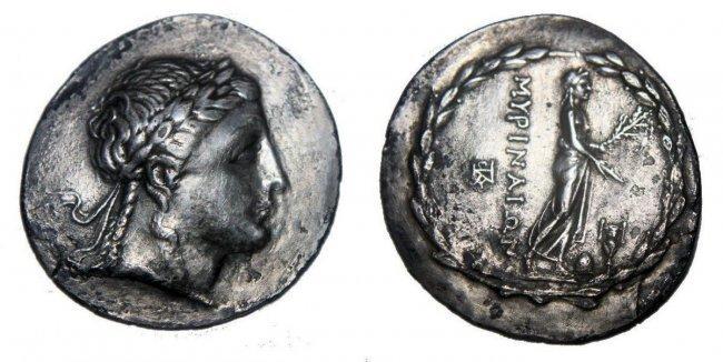 AEOLIS, Myrina. Circa 155-145 BC. AR Tetradrachm