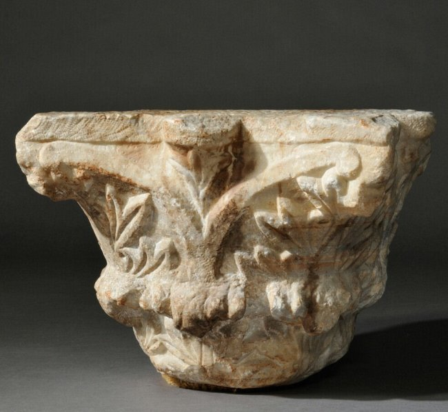 Large Ancient Roman Marble Column Capital c. 2nd-5th AD
