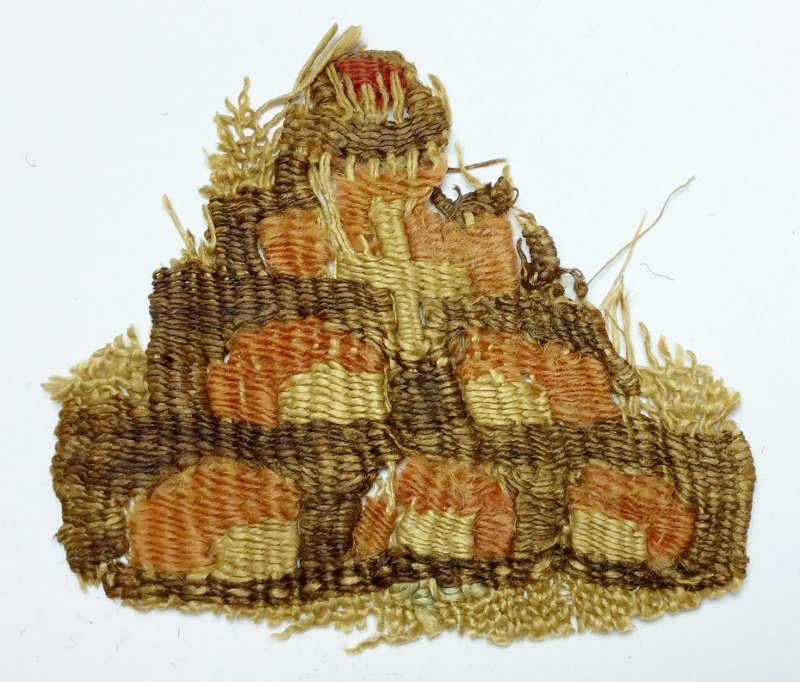 Roman Egypt Coptic Linen Textile Fragment with Trees,