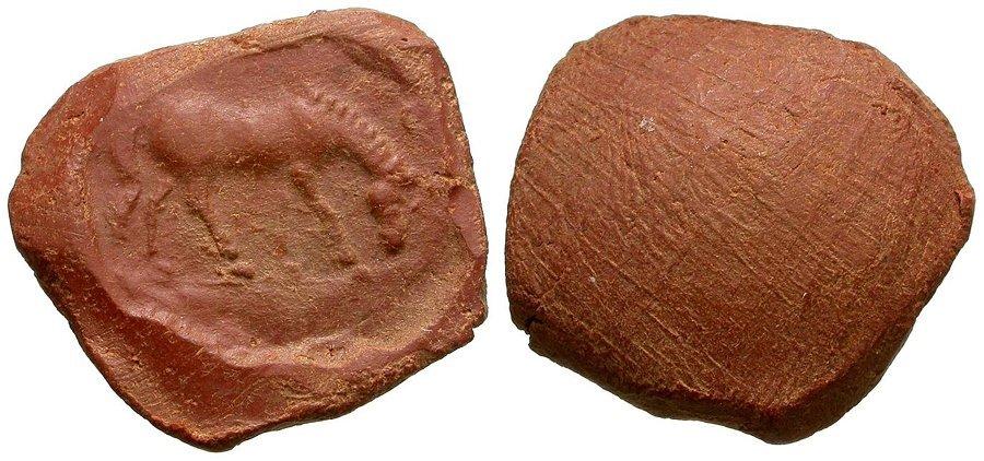 Roman Terracotta Seal or Theatre Token, circa 1st-4th