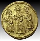 Byzantine Gold Solidus Heraclius ConstantineHeraclonas