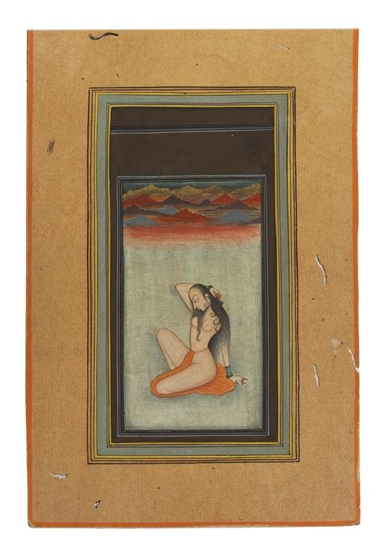 Kishangad, India, late 18th century painting on Gouache