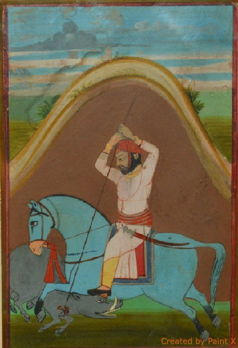 Kishangad, India early 19th Cent painting of A Prince