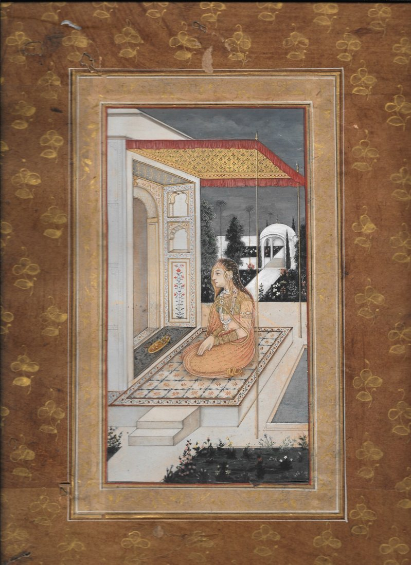 Provincial Mughal, India 19th Cent painting on gouache