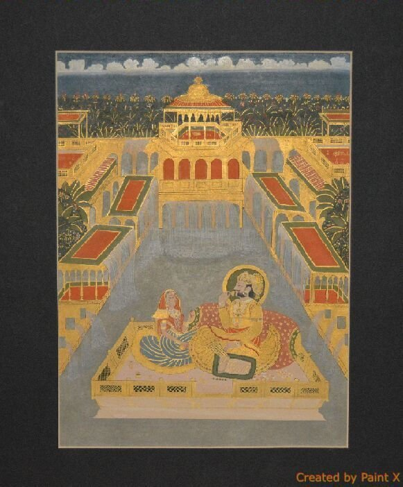 Jodhpur, India, late 19th century painting on gouche