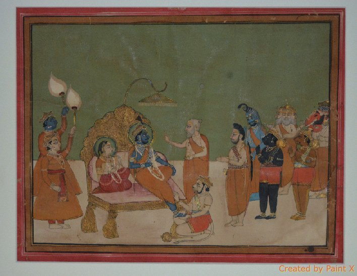 Jaipur, 19th Century Painting on gouache of Ram