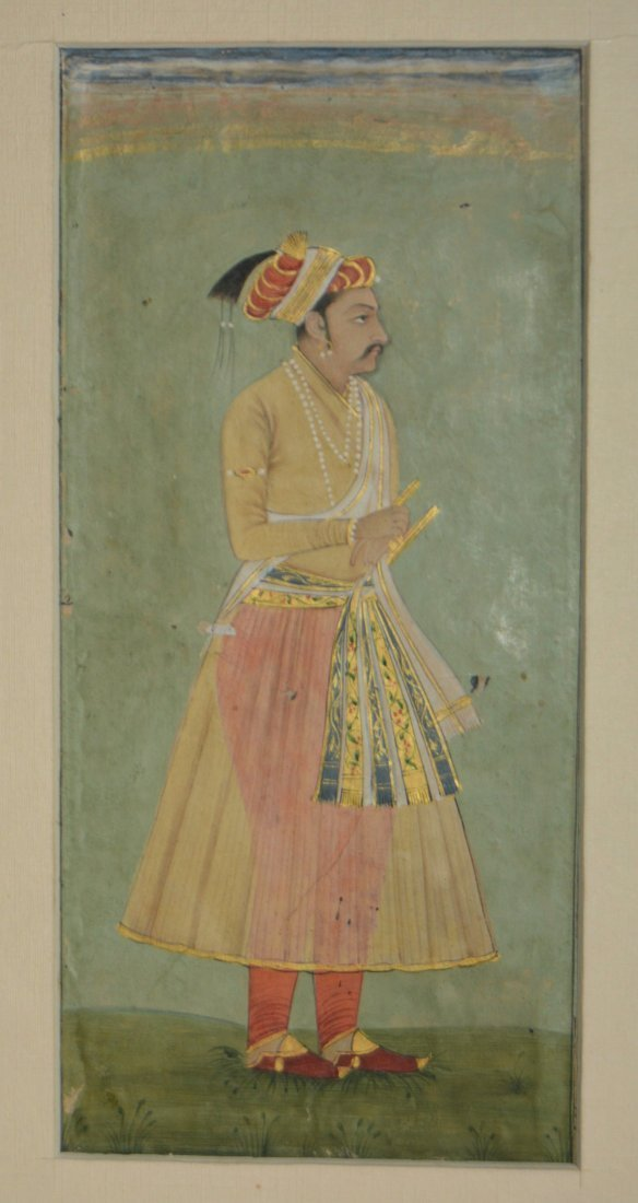 17th century Indian provincial Mughal portrait