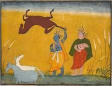 Mughal, India 16th century miniature painting