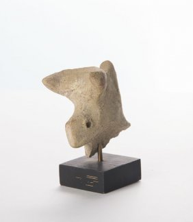 Ancient Greek Terracotta Bull Head Fragment C. 500 Bc