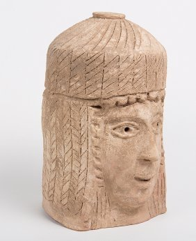 Ancient Terracotta Sculpture Of A Phoenician Woman C.6