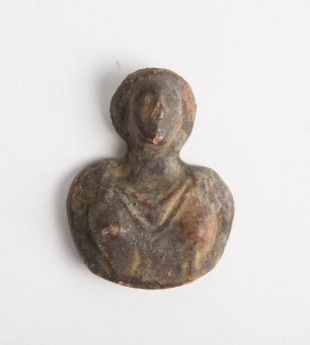 Roman Bronze Female Bust Applique C.1st-2nd Century Ad